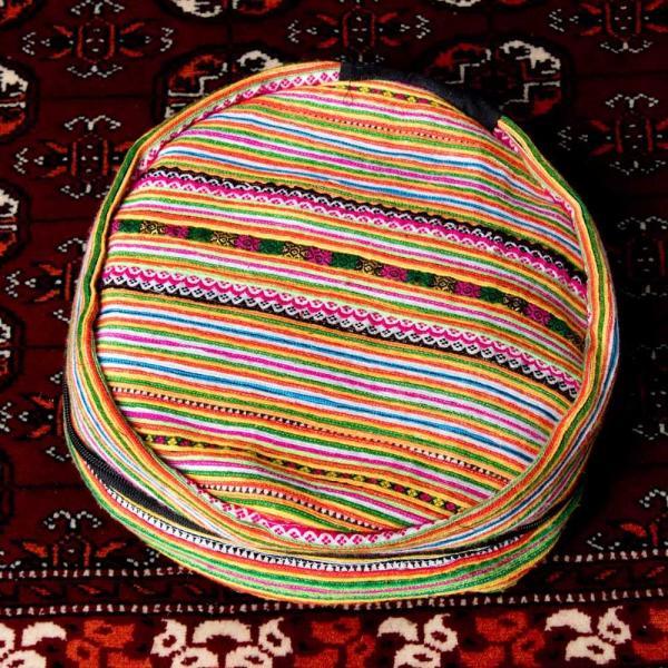 モン族刺繍 まんまる折りたたみ式2Wayトラベルバッグ / ショルダーバッグ レビューでタイカレープレゼント|tirakita-shop|05