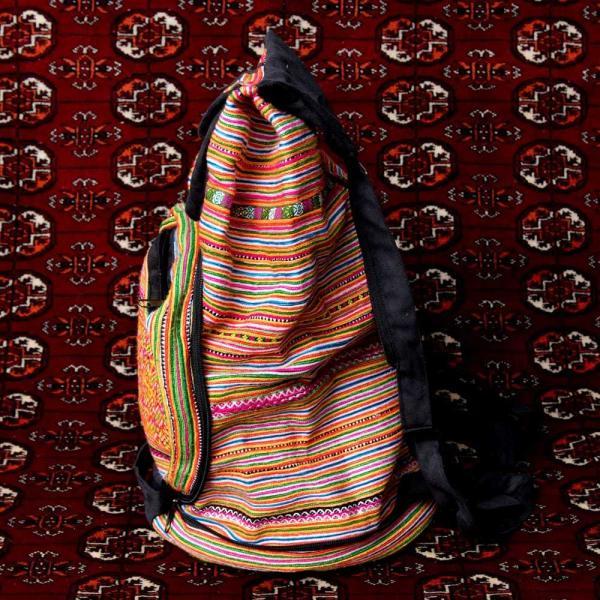 モン族刺繍 まんまる折りたたみ式2Wayトラベルバッグ / ショルダーバッグ レビューでタイカレープレゼント|tirakita-shop|10