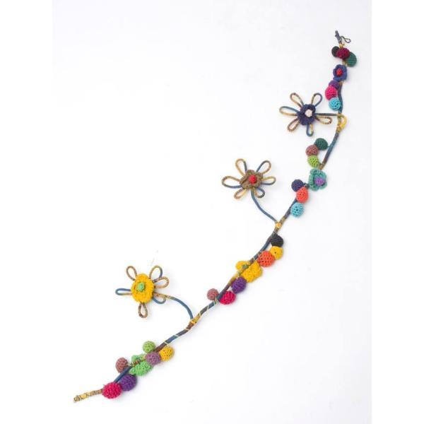 デコレーション 飾り お花のワイヤーデコレーション (青色系) アジア アジアン エスニック インド 雑貨|tirakita-shop|02