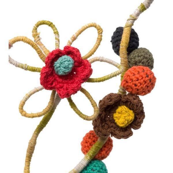 デコレーション 飾り お花のワイヤーデコレーション (青色系) アジア アジアン エスニック インド 雑貨|tirakita-shop|05