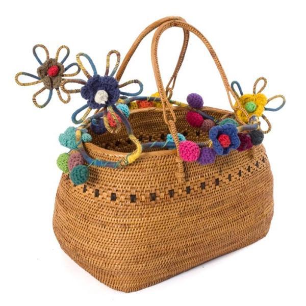 デコレーション 飾り お花のワイヤーデコレーション (青色系) アジア アジアン エスニック インド 雑貨|tirakita-shop|07