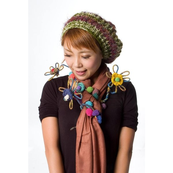 デコレーション 飾り お花のワイヤーデコレーション (青色系) アジア アジアン エスニック インド 雑貨|tirakita-shop|08