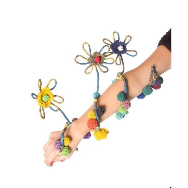 デコレーション 飾り お花のワイヤーデコレーション (青色系) アジア アジアン エスニック インド 雑貨|tirakita-shop|09