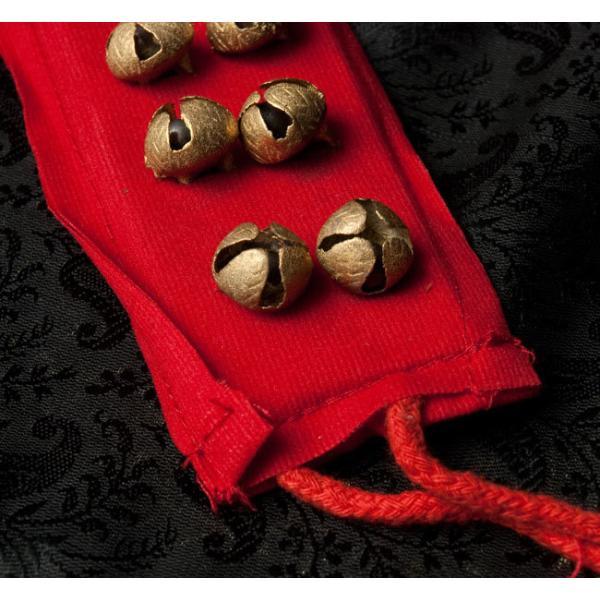 ベル グングルベルト インド 打楽器 布グングル 2列 民族楽器 銅鑼 ドラ インド楽器 エスニック楽器 ヒーリング楽器|tirakita-shop|04