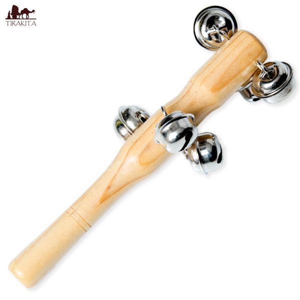 クリスマス 楽器 トナカイ スレイベル ジングルベル トナカイが引くそりの音色がする鈴 15.4cm シェレン ソナリ 打楽器 民族楽器 銅鑼 ドラ インド楽器|tirakita-shop