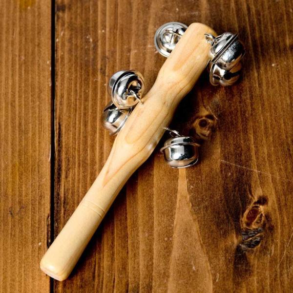 クリスマス 楽器 トナカイ スレイベル ジングルベル トナカイが引くそりの音色がする鈴 15.4cm シェレン ソナリ 打楽器 民族楽器 銅鑼 ドラ インド楽器|tirakita-shop|02