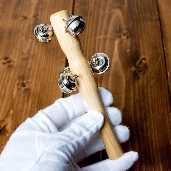 クリスマス 楽器 トナカイ スレイベル ジングルベル トナカイが引くそりの音色がする鈴 15.4cm シェレン ソナリ 打楽器 民族楽器 銅鑼 ドラ インド楽器|tirakita-shop|05