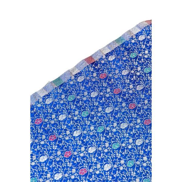 切り売り 計り売り布 生地 〔1m切り売り〕インドの伝統模様布 スパークリングオーシャン〔幅約117cm〕 アジア布 手芸 アジアン ファブリック テーブルクロス|tirakita-shop|04