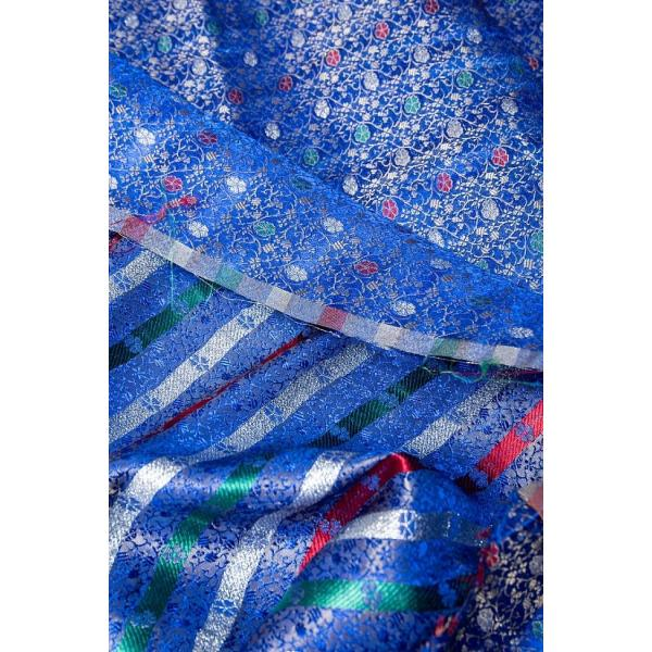 切り売り 計り売り布 生地 〔1m切り売り〕インドの伝統模様布 スパークリングオーシャン〔幅約117cm〕 アジア布 手芸 アジアン ファブリック テーブルクロス|tirakita-shop|06