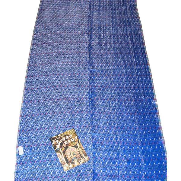 切り売り 計り売り布 生地 〔1m切り売り〕インドの伝統模様布 スパークリングオーシャン〔幅約117cm〕 アジア布 手芸 アジアン ファブリック テーブルクロス|tirakita-shop|07