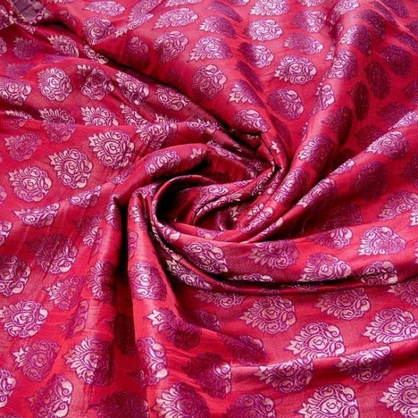 切り売り 計り売り布 生地 〔1m切り売り〕インドの伝統模様布〔幅約117cm〕 レッド×パープル アジア布 手芸 アジアン ファブリック tirakita-shop 04
