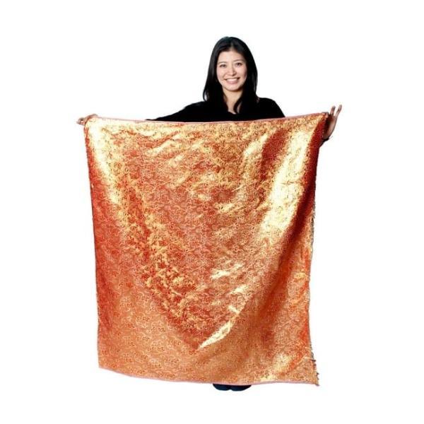 切り売り 計り売り布 生地 〔1m切り売り〕インドの伝統模様布〔幅約117cm〕 レッド×パープル アジア布 手芸 アジアン ファブリック tirakita-shop 07
