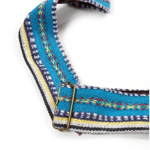 (収納たっぷり)エスノ刺繍のショルダーバッグ 茶系 / エスニック リュックサック ポーチ