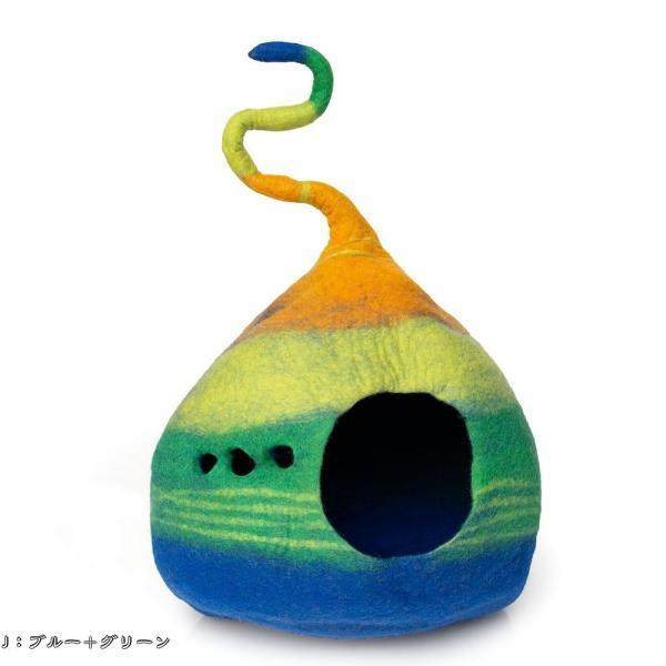 ネパールフェルトのしっぽ付きキャットハウス / ペット用品 猫ハウス レビューでタイカレープレゼント tirakita-shop 19