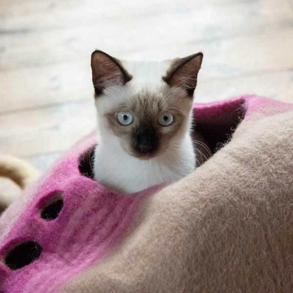ネパールフェルトのしっぽ付きキャットハウス / ペット用品 猫ハウス レビューでタイカレープレゼント tirakita-shop 07