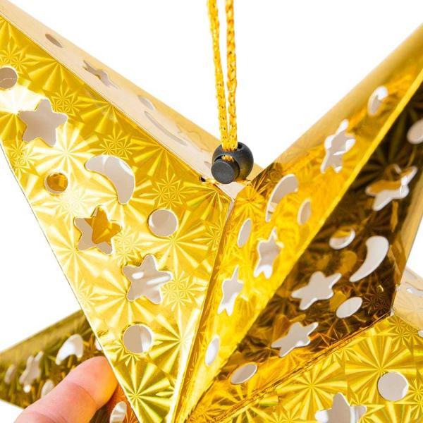 アドベント アドベントスター ペーパーオーナメント スターランプシェード 星型ランプデコレーション 直径:約55cm クリスマスデコレーション|tirakita-shop|11