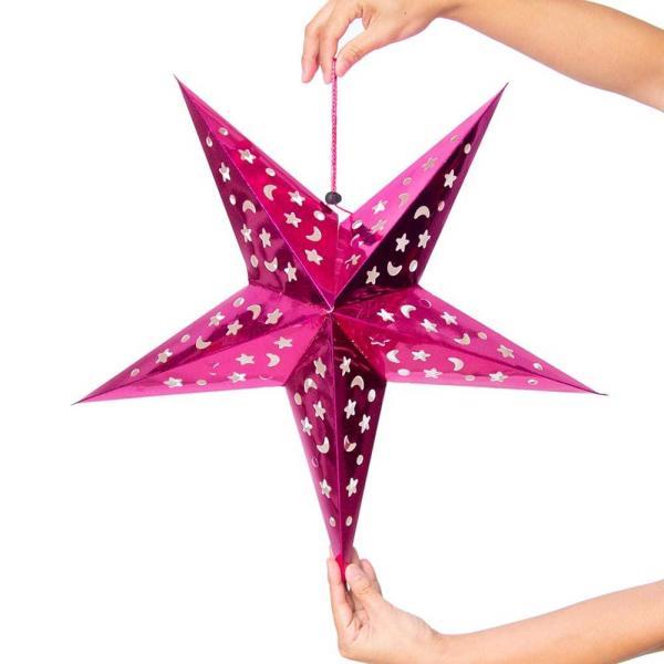 アドベント アドベントスター ペーパーオーナメント スターランプシェード 星型ランプデコレーション 直径:約55cm クリスマスデコレーション|tirakita-shop|07