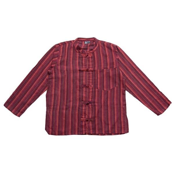 長袖ストライプクルタ / 送料無料 男性用シャツ 長袖シャツ レビューでタイカレープレゼント|tirakita-shop|18