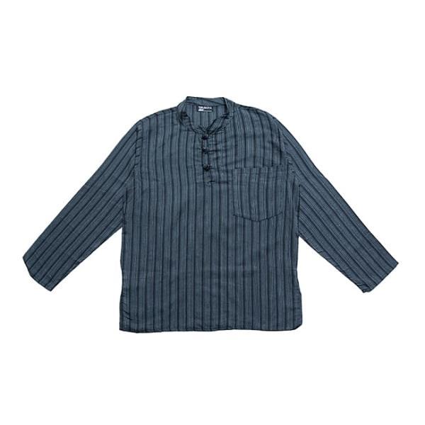 長袖ストライプクルタ / 送料無料 男性用シャツ 長袖シャツ レビューでタイカレープレゼント|tirakita-shop|19
