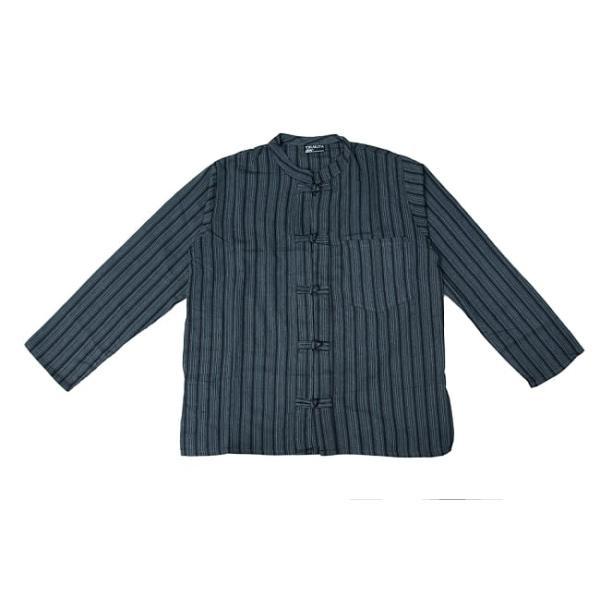 長袖ストライプクルタ / 送料無料 男性用シャツ 長袖シャツ レビューでタイカレープレゼント|tirakita-shop|20