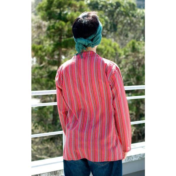 長袖ストライプクルタ / 送料無料 男性用シャツ 長袖シャツ レビューでタイカレープレゼント|tirakita-shop|03