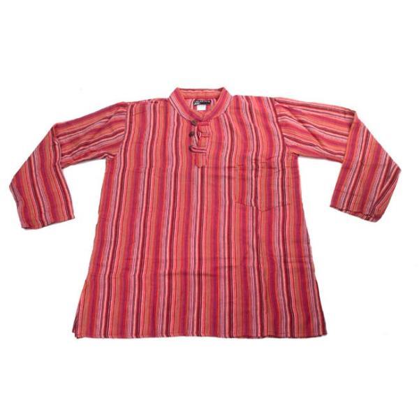 長袖ストライプクルタ / 送料無料 男性用シャツ 長袖シャツ レビューでタイカレープレゼント|tirakita-shop|08