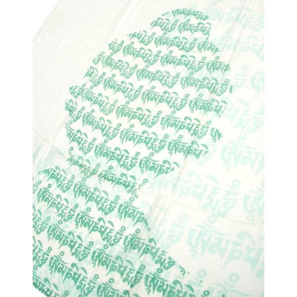 ラムナミ チベット 布 (160cm×70cm)ヒストリーブッダのファンシーストール ショール ドゥパッタ スカーフ レディース エスニック衣料 tirakita-shop