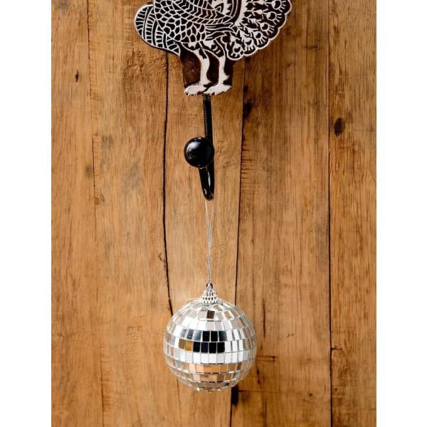 ミラーボール デコレーション パーティー クリスマス 手のひらサイズのミラーボール パーティーなどの装飾へ 70mm mirror ball エスニック インド アジア 雑貨|tirakita-shop|03