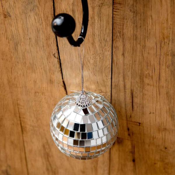 ミラーボール デコレーション パーティー クリスマス 手のひらサイズのミラーボール パーティーなどの装飾へ 70mm mirror ball エスニック インド アジア 雑貨|tirakita-shop|04