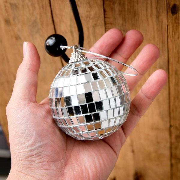 ミラーボール デコレーション パーティー クリスマス 手のひらサイズのミラーボール パーティーなどの装飾へ 70mm mirror ball エスニック インド アジア 雑貨|tirakita-shop|06