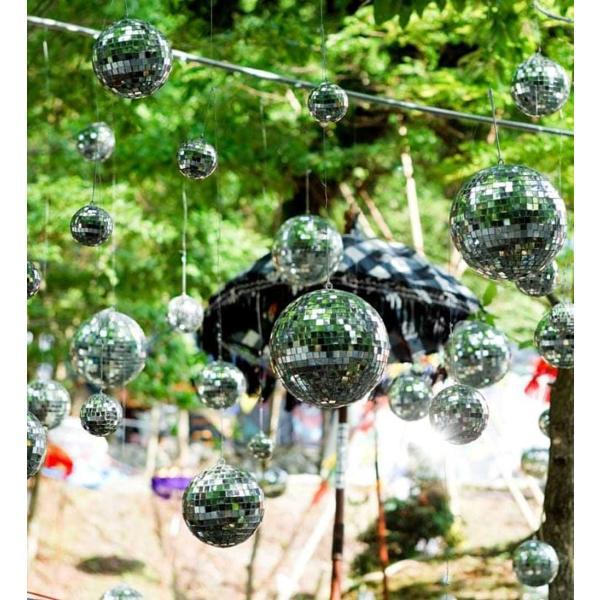 ミラーボール デコレーション パーティー クリスマス 手のひらサイズのミラーボール パーティーなどの装飾へ 70mm mirror ball エスニック インド アジア 雑貨|tirakita-shop|07