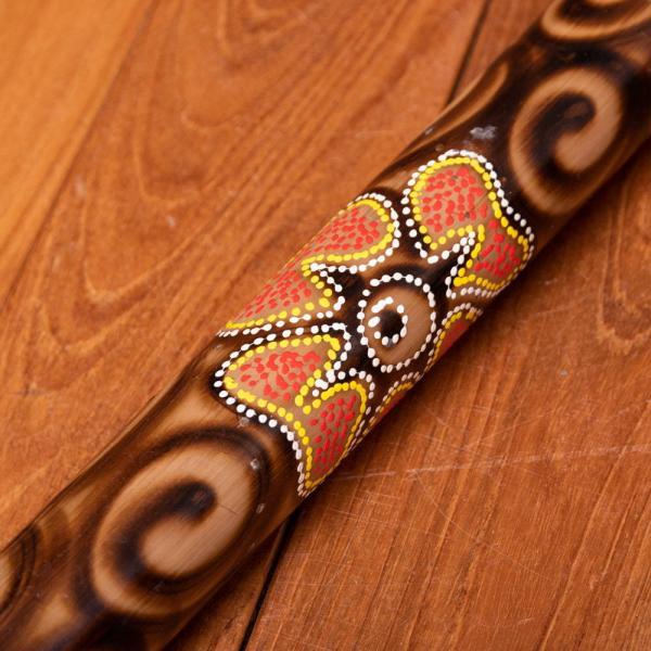 楽器 癒やし 民族楽器 レインスティック バリ 打楽器 雨音 波の音 波音 雨音がする民族楽器 100cm (花柄) インド楽器 エスニック楽器 ヒーリング楽器|tirakita-shop|04