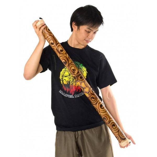 楽器 癒やし 民族楽器 レインスティック バリ 打楽器 雨音 波の音 波音 雨音がする民族楽器 100cm (花柄) インド楽器 エスニック楽器 ヒーリング楽器|tirakita-shop|07