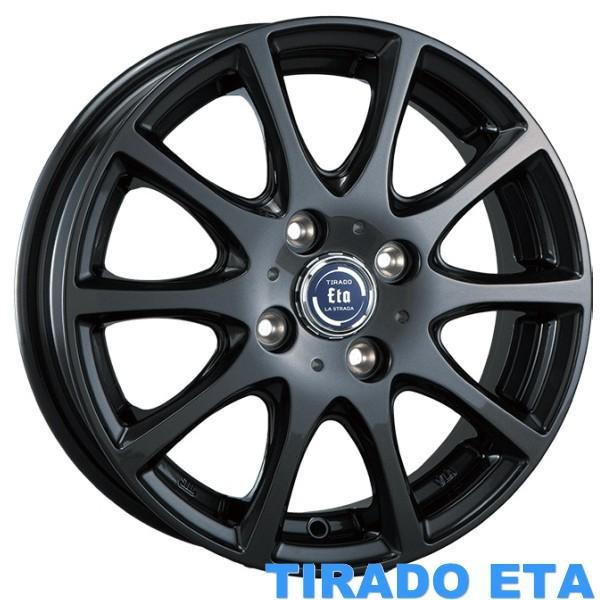 軽自動車【アルミ単品4本価格】LA STRADA TIRADO ETA/ラ・ストラーダ ティラード イータ 14X4.5J 4穴 PCD:100g