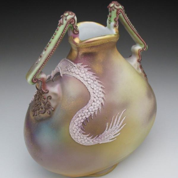オールドノリタケ ドラゴン盛り上げ 花瓶|tirunhausu|11