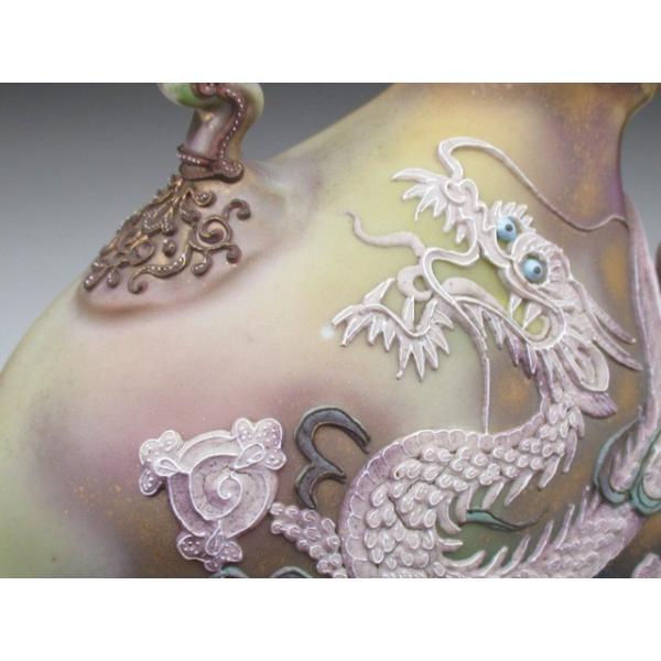 オールドノリタケ ドラゴン盛り上げ 花瓶|tirunhausu|13