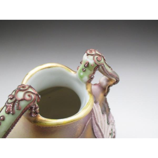 オールドノリタケ ドラゴン盛り上げ 花瓶|tirunhausu|15
