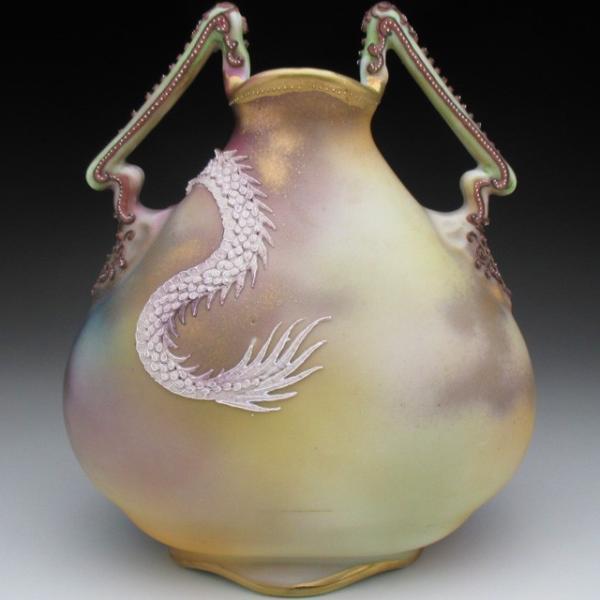 オールドノリタケ ドラゴン盛り上げ 花瓶|tirunhausu|05