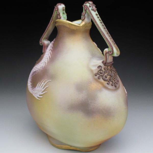 オールドノリタケ ドラゴン盛り上げ 花瓶|tirunhausu|06