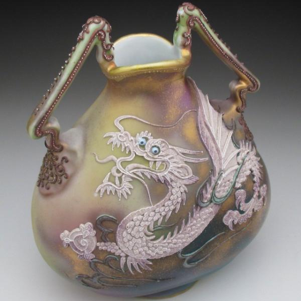 オールドノリタケ ドラゴン盛り上げ 花瓶|tirunhausu|09