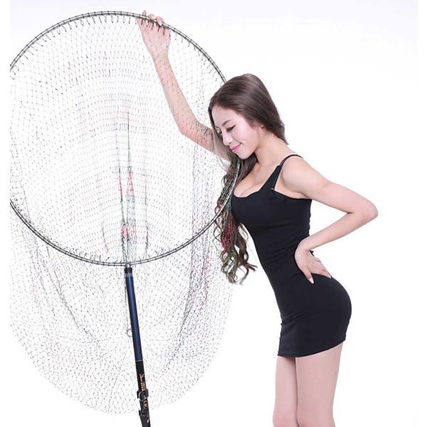 磯釣り ・ 船釣り 硬形態チタン 直径80cm ワンピース 玉枠 + PE10号 手編み タモ網 2点セット (3番柄)|titanium|06
