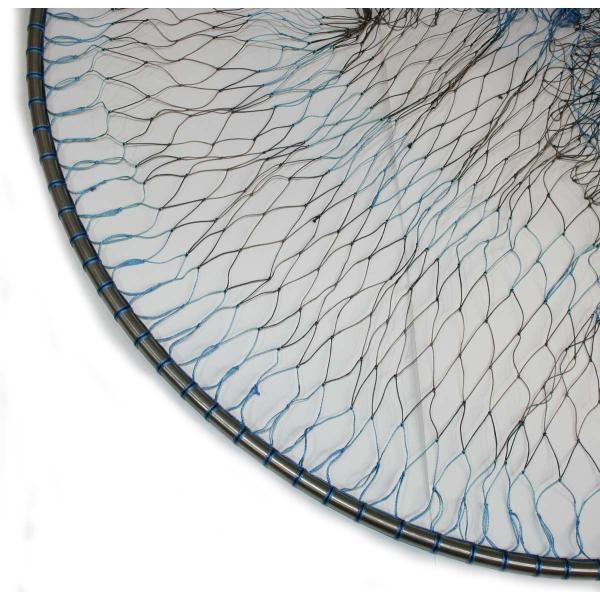 磯釣り ・ 船釣り 硬形態チタン 直径80cm ワンピース 玉枠 + PE10号 手編み タモ網 2点セット (4番柄)|titanium|03