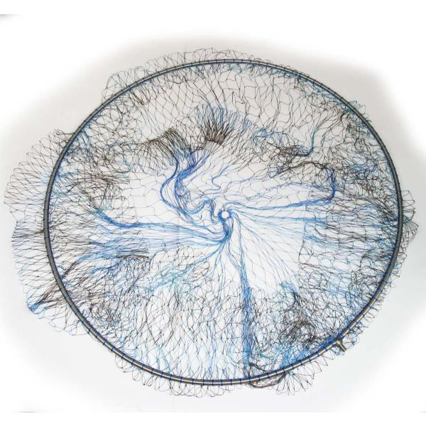 磯釣り ・ 船釣り 硬形態チタン 直径80cm ワンピース 玉枠 + PE10号 手編み タモ網 2点セット (4番柄)|titanium|05