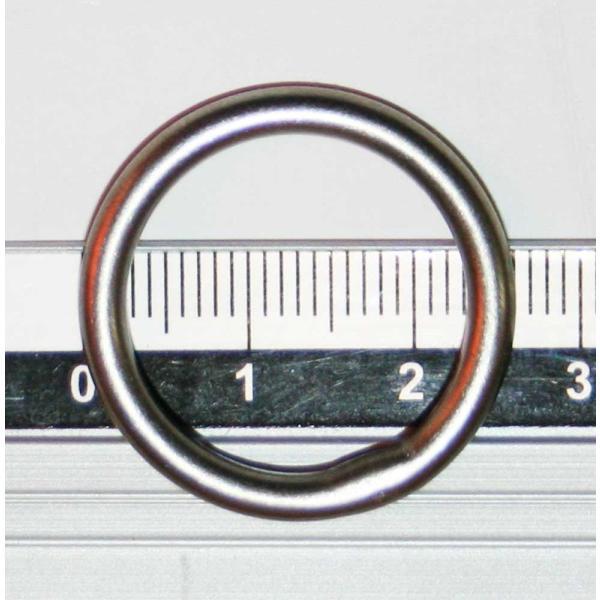 チタンリング 25mm φ3 ( 溶接 チタン リング 丸カン )|titanium|02