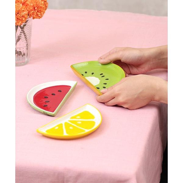 プレート 皿 食器 陶器 お茶碗 小鉢 中鉢 フルーツ かわいい キッチン ギフト プレゼント セット フルーツ カットプレート j0729-003|titicaca-y|02