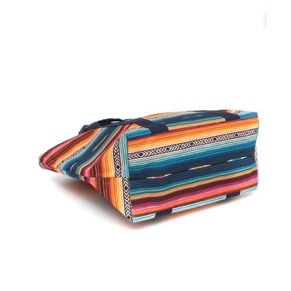 保冷バッグ ランチバッグ サブバッグ 保冷 トート 大容量 大きめ 大 おしゃれ お弁当 バッグ アウトドア ボーダー カラフル サラッペ保冷トートバッグ ziscb2384|titicaca-y|12