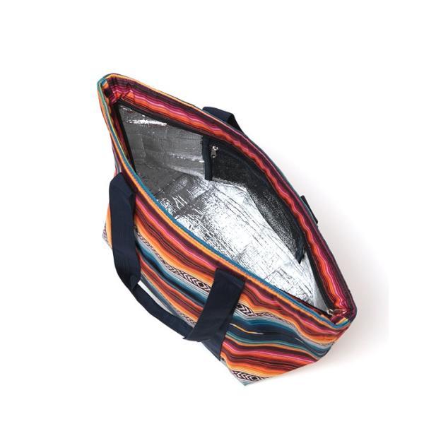 保冷バッグ ランチバッグ サブバッグ 保冷 トート 大容量 大きめ 大 おしゃれ お弁当 バッグ アウトドア ボーダー カラフル サラッペ保冷トートバッグ ziscb2384|titicaca-y|13