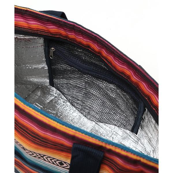 保冷バッグ ランチバッグ サブバッグ 保冷 トート 大容量 大きめ 大 おしゃれ お弁当 バッグ アウトドア ボーダー カラフル サラッペ保冷トートバッグ ziscb2384|titicaca-y|14