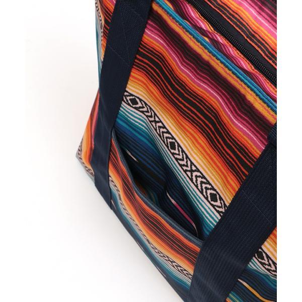 保冷バッグ ランチバッグ サブバッグ 保冷 トート 大容量 大きめ 大 おしゃれ お弁当 バッグ アウトドア ボーダー カラフル サラッペ保冷トートバッグ ziscb2384|titicaca-y|16