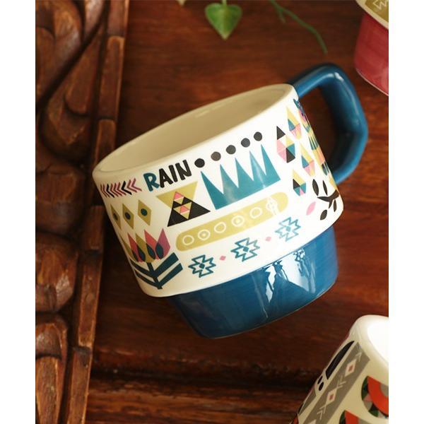 マグカップ マグ カップ コップ 食器 陶器 インテリア スタッキング カラフル 秋 冬 夏 春 エスニック かわいい 大きめ イニシャルスタッキングマグ ziwcb2304 titicaca-y 10